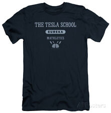 Eureka - Tesla School (slim fit) Apparel T-Shirt - Navy