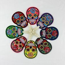 10pcs/set Skull Pattern Cloth Patches Embroidery Sew Patches Motifs Applique