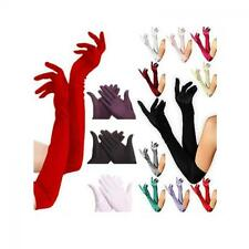 Bridal Opera Evening Party Long Satin Prom Costume Gloves