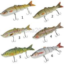1pcs Multi Jointed Spinning Carp Bass Fishing Lures Fish Bait with Tackle Hooks