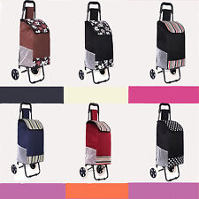 Super Lightweight Wheeled Shopping Shopper Travel Trolley Light Luggage Bag Case
