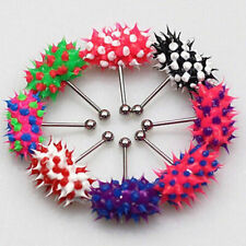Colorful Vibrating Lip Tongue Bar Ring Stud Jewelry Body Piercing + 2 Batteries