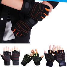 Sports Weightlifting Gym Gloves Training Workout Wrist Wrap Fitness Gloves Half