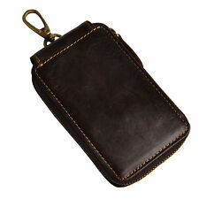 New Vintage Genuine Leather Key Chain Holder Auto Remote Control Case Bag