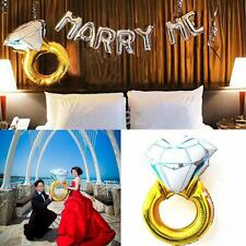 "Big Diamond Ring Shape Balloon Helium Foil Mylar Balloon Wedding Decor 30""/43"""