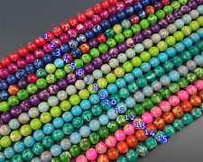 8mm sea sediment jasper beads round loose gemstone beads for jewelry making 15''