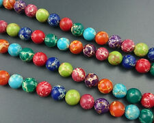 rainbow sea sediment jasper beads round gemstone beads loose beads 6,8,10,12mm