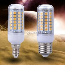 High Power E14/E27 69LEDs 5050 SMD 5W Energy Light Corn Bulb Lamp Warm White