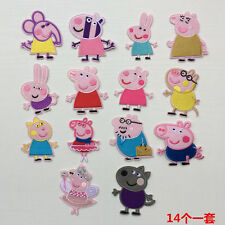 10pcs/set Cute Cartoon Pink Pig Embroidered Patch Iron /sew on Fabric Applique