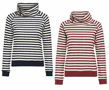 Ladies Sweat-Shirt Pullover SIAN L/S HIGHNECK SWT Stripes Hoodie 15128810