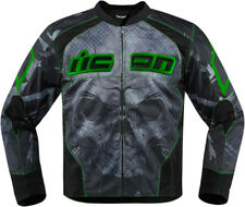 Icon Green/Black Mens Overlord Reaver Motorcycle Jacket