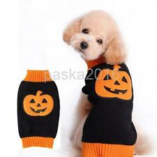 Pet Dog Cat Halloween Pumpkin Sweater Warm Clothes Apparel Holiday Costume
