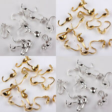 Lot 100Pcs Golden Silver Plated Tone Charlotte Crimp End Beads Jewelry Findings
