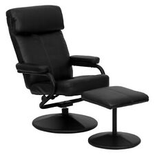 FlashFurniture Contemporary Leather Recliner/Ottoman with Wrapped Base