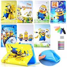 For Apple iPad  2nd,3rd,4th Gen. protective cover minions cartoon stand case
