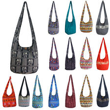 New Cotton Yaam Bags Thai Traditional Travel Pouch Sling Messenger Cross Body
