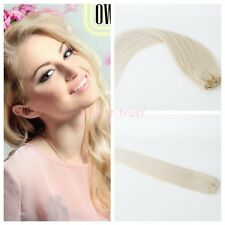 US STOCK 7 pcs set Real Remy Hair Clip In Remy Human Hair Extensions #613 Blonde