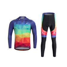 Mens Cycling Jerseys And Padded Trousers Biking Clothing Kits Bicycle Set Long