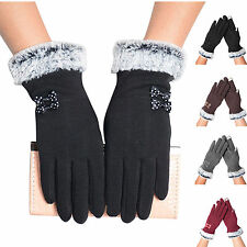 Womens Winter Gloves Touch Screen Warm Gloves Outdoor Driving Gloves Mittens KG