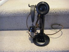 WESTERN ELECTRIC VINTAGE SWITCHBOARD OPERATOR`S CANDLESTICK TELEPHONE W HEADSET
