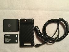 Motorola Droid cell phone accessories:  case / battery BH5X / car charger