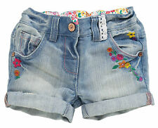ВNWT NEXT Girls' Outfits • Denim Embroidered Shorts • Cotton-Rich • 18-24 Months