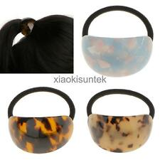 Vintage Semicircle Leopard Print Hair Band Pony Holder Hair Accessory 3Colors