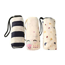 Mini Pocket 5 Folding Compact Princess Anti UV Sun Rain Umbrella Women ParasoSU