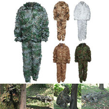 Leaf Camouflage Woodland Camo Ghillie Suit Set 3D Jungle Forest Hunting Clothing