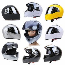 Durable ABS Full Face Motocross Dirt Motorcycle Helmet Dual Visor Motorbike Mask
