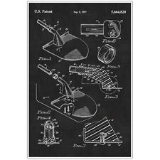 Gardening Shovel Patent Blueprint Poster, Photo Art