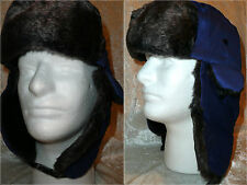 2 PCS Men Women Winter Trapper Trooper Earflap Warm Russian Ski Hat Fur Bomber