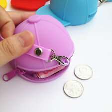 Hat silicone zero wallet 1pcs bag change coin Candy color purses coin wallets