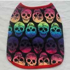 Skull Vest Puppy Small Cat Summer T Shirt Cute Pet Dog Clothes Apparel Costumes@