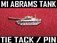 M1 ABRAMS BATTLE TANK - TIE TACK / LAPEL PIN - ARMY ARMOR - INCLUDES GIFT BOX