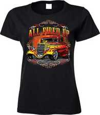 T Shirt in black with Hot Rod-&`50 Style Emotiv Model All Fired Up