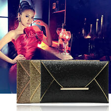 Lady Sparkling Dazzling Sequins Clutch Bag Purse Evening Party Handbag FEJV
