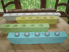 Wood Candle Holder Tea Light Votive Handcrafted Centerpiece 1-3ft Great Gift