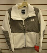 THE NORTH FACE WOMENS DENALI FLEECE JACKET- ANLP- LARGE - WHITE/ PACHE GREY- NEW