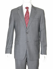 Joseph Abboud Collection Gray Pinstriped Two Button Wool Suit Made In Usa