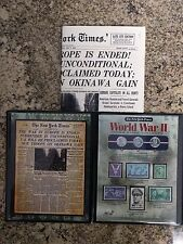 New York Times World War II Coins & Stamp COA + News Paper Collection Looks New