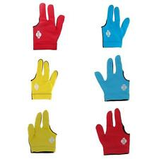Lycra Three Full Finger RIGHT LEFT Hand Snooker Billiard Table Cue Pool Glove