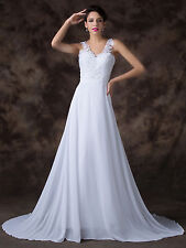 Grace Karin Chiffon Wedding Ball Gown Evening Prom Party Dress Custom Size 6-20+