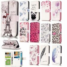 Cute Patterns Protective Case for Samsung Galaxy Phones PU Leather Wallet Cover