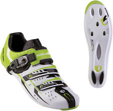 Pearl Izumi Men's Elite Rd III Road Cycling Shoes White Green Blk SPD-SL / Look
