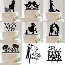 Hot Fashion Mr &Mrs Bride and Groom Love Birds Wedding Cake Topper Party Decora