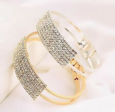 1Pcs Crystal Women Gold Silver Plated Bracelet Jewelry Elegant Cuff Bangle Gift
