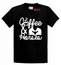 Coffee & Horses T Shirt Cute Country Cowgirl Tee Western Southern Rebel Gift Tee
