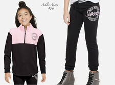 NWT JUSTICE Girls 8 10 12 SOCCER Half Zip Pullover & Jogger Sweatpants Outfit