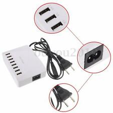 UK US EU Plug  Hi-Speed 8 Ports USB Hub Charger AC Power Adapter Splitter HQ